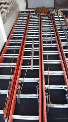 Escaleras tipo extensión de 28 pasos dielectrica