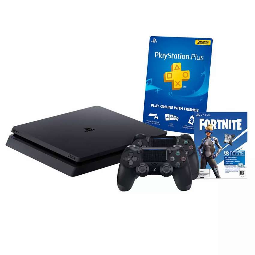 PlayStation 4 Slim + 4 juegos + 2 joustick 0