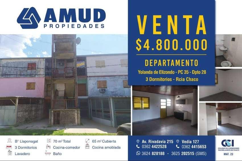 Departamento zona UNNE 3 dormitorios (Barrio Llaponagath)