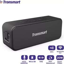 Tronsmart Parlante Bluetooth NFC Portatil Acuatico Extra Bass T2 Plus.