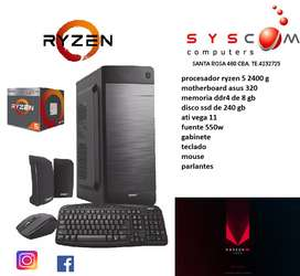 CPU AMD RYZEN 5  2400G , CON VEGA 11 , NUEVAS 3 AÑOS DE GARANTIA