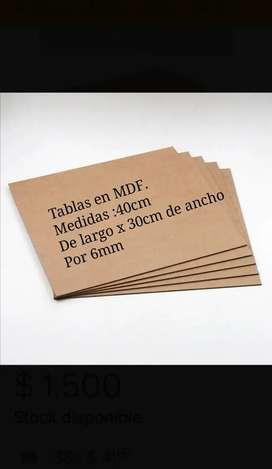 Individuales en MDF