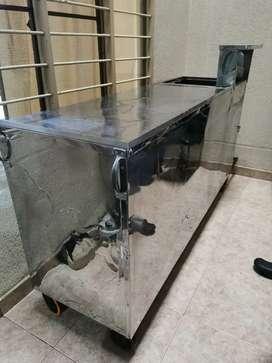 Vendo carrito para comida (ideal para empanadas) en acero inoxidable