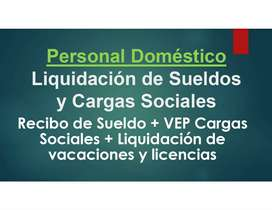 PERSONAL DOMESTICO Liquidación de Sueldos y Cargas Sociales
