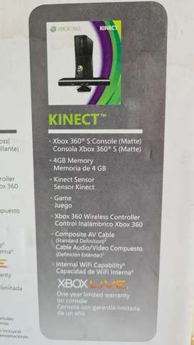 Xbox 360 kinect 4GB RAM