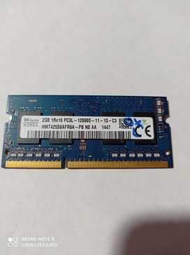 Memoria DDR3 2 gb PC3L 12800S