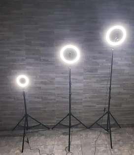 Aros de luz y trípode