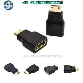Adaptador HDMI - Mini HDMI, Alta Calidad HD TV 1080p Filmadora