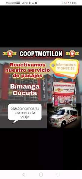 Pasajes para Cúcuta