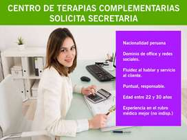 Secretaria para centro de Terapias Alternativas