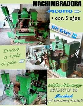MACHIMBRADORA Ø cepilladora 4 caras moldurera máquinas de carpintería