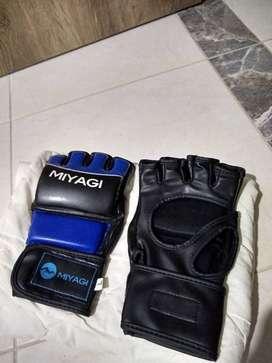Guantes MMA pro MIYAGI y saco de boxeo Everlast