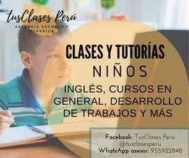 CLASES Y TUTORÍAS NIÑOS INGLES Y MÁS