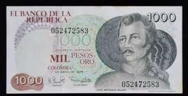 Billete de 1000 pesos Jose Antonio Galan