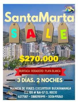 Tour promoción Santa Marta salida de Bucaramanga