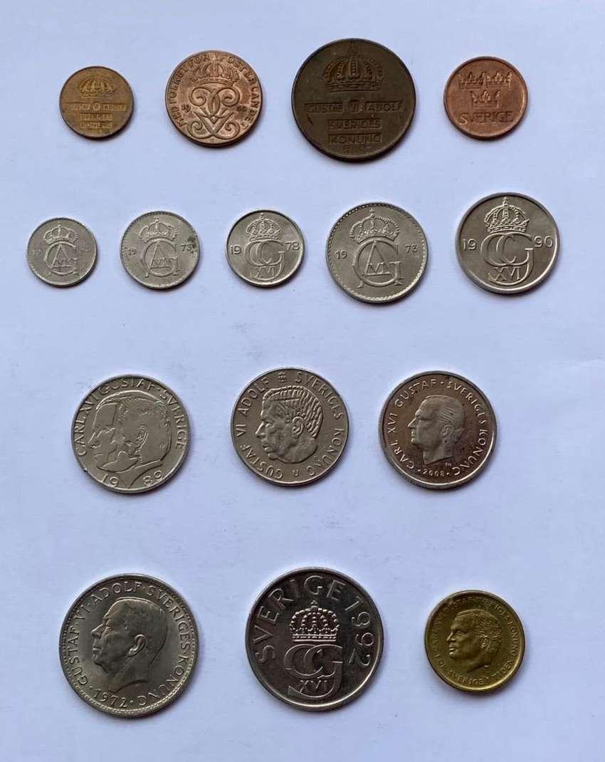 Suecia lote de monedas
