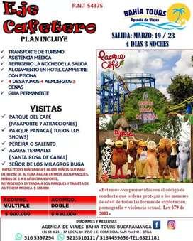 TOUR EJE CAFETERO MARZO 19 AL 24