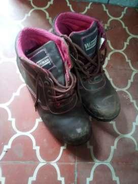 Botas punta de acero para mujer