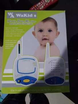 Vendo radios para monitorear bebe marca wakids