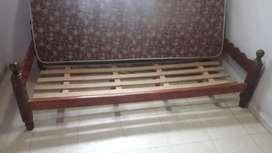 Cama de algarrobo - 1 plaza