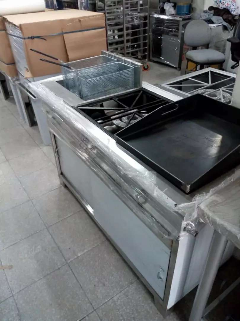 estufa especial de 3 servicios en acero