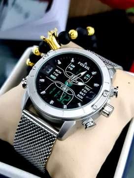Reloj en malla para caballero
