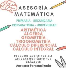 Asesorias de Matematicas para primaria y secundaria.