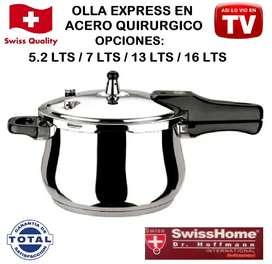 Olla express Tv Acero Quirúrgico 5.2Lt