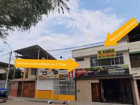 Se alquila oficinas o consultorios en Piura a media cuadra de Plaza de La Luna - En segundo piso