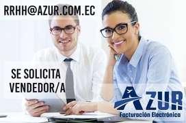 Solicito vendedor con experiencia en ventas para planes de facturación electrónica