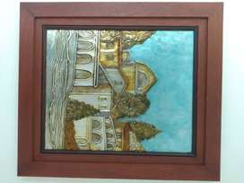 Cuadros decorativos técnica laminado marcos en madera