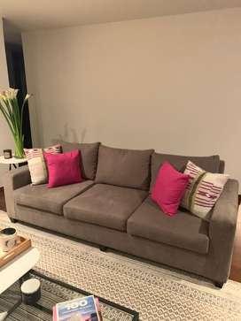 Sofa gris 220 x 90! Super condicion
