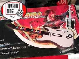 GUITARRA PARA GUITAR HERO FULL 10 DE 10 GARANTIA COLOR BLANCA NEGRA GARANTIA DOMICILIO