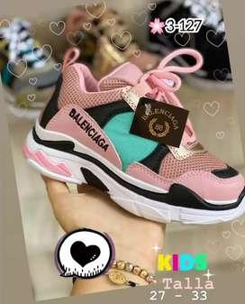 Zapato Tennis Deportivo Balenciaga Para Niña