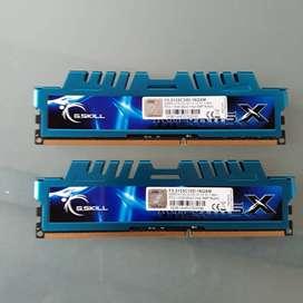 16GB Memoria RAM 8gb DDR3 X 2 - 2133 Pc Gskill 17000 Ripjaws X 2133mhz