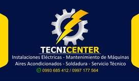 Servicio Tecnico - Instalaciones Electricas, Aire Acondicionado, Mantenimiento de Maquinas, Soldador, electricista