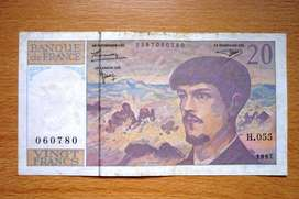 Billete 20 francos 1997