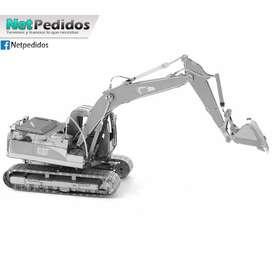 Rompecabezas 3D Metalico Excavador Armable Nivel Profesional