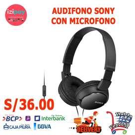 AUDIFONO SONY CON MICROFONO DE EXCELENTE CALIDAD DE SONIDO