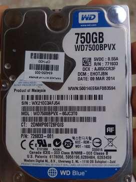 Disco duro WD750GBPVX