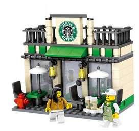 Mini Coffee Shop Cadena Starbucks Estilo Lego