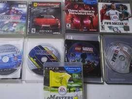 Combo 9 juegos Ps3, 40.000, Pes, Fifa, Lego, ferrari challenge, etc.
