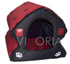 Casa #4 Perro Gato plegable Davivienda En Lona Resistente 70x70x67
