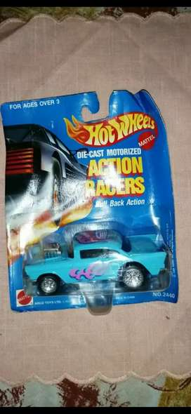hot wheels diecast motorized action racers Pull Back action