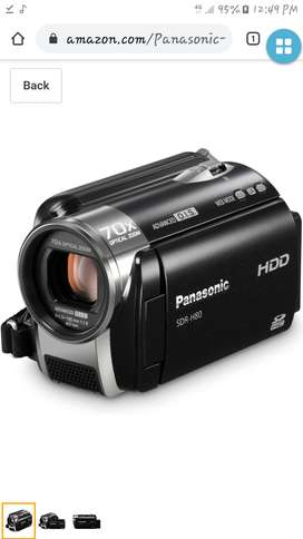 Videograbadora PANASONIC SDR H80 con sólo 02 usos practicamente nueva y con estuche, se adjunta manual.