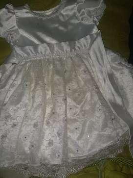 GANGA Espectacular Vestido Bautizo para Niña Completo