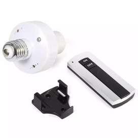 Luz foco E27 control inalámbrico Socket RF Apagado Prendido