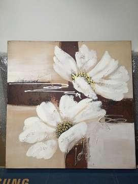 Cuadro flor 60 x 60 cm