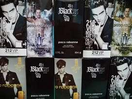 Perfumes 60 ml  212 VP, 212MEM, INVCTUS, ONE MILION, XS, PACCO RABANNE, DELICIOUS, SCADA, HB,