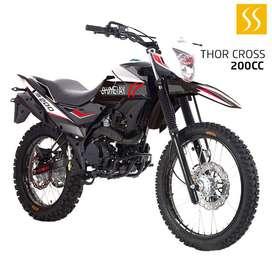 MOTO SHINERAY THOR XY200GY-6E 200CC 2020 NEGRO GRATIS MATRICULA + CASCO GARANTIA DE 30000KM